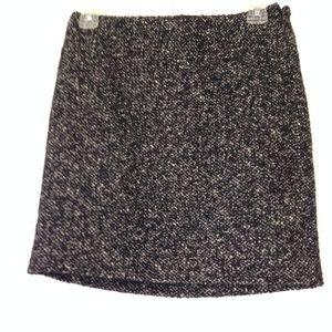 Calvin Klein Black Tweed Mini Skirt NWT
